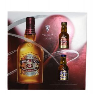 CHIVAS REGAL SCOTCH BLENDED GFT PK W/2 50ML 18 AND EX 12YR 750ML  (BUY 2 SAVE $6 COUPON APPLIED BY PERNOD DISCOUNT APPLIED IN PRICE SHOWN)