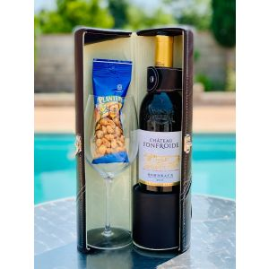 GIFT BASKET 141 CHATEAU FONFROIDE BORDEAUX FRANCE 2016 IN WINE CARRIER